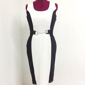 14 VENUS Sexy Black and White Bodycon Dress